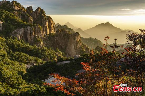 Autumn scenery of Mount Huangshan